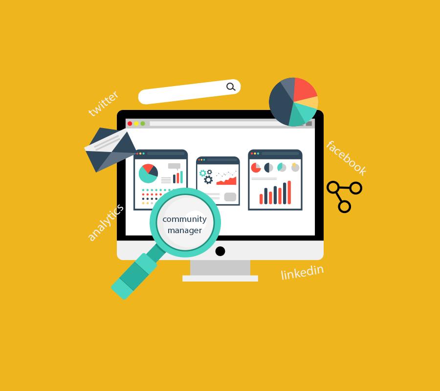 Community Manager, diseño Web y diseño gráfico