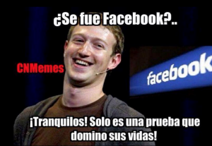 Facebook se cae meme