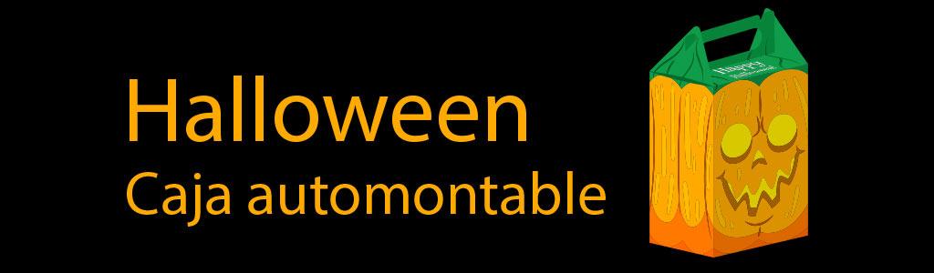 Patrón gratis caja automontable halloween